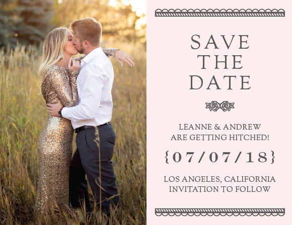 Ensure that your friends and family know when your wedding will be using The Collector Save-the-Date Cards.