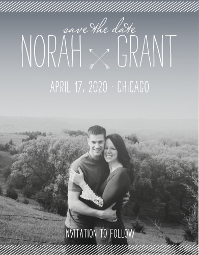 With a lovely engagement photo of your choice decorating the background of our Simply Drawn Save-the-Date Cards, we've already created a card that will be absolutely unforgettable.