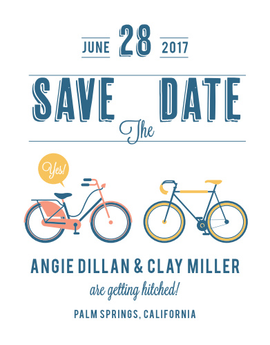 With our beautiful matching City Life Save-the-Date Cards, you can guarantee that your guests mark their calendars well in advance.