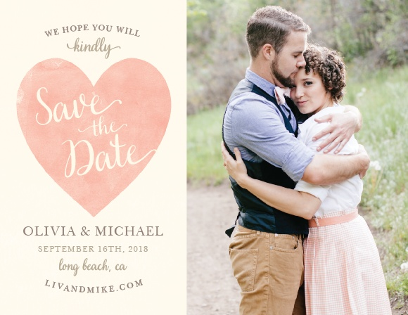 Simply in Love Save-the-Date Cards guarantee that your loved ones mark their calendars well in advance of your big day.