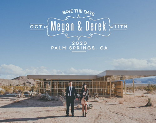 The Blue Skies save-the-date cards is part of the Love vs Design collection by Basic Invite.