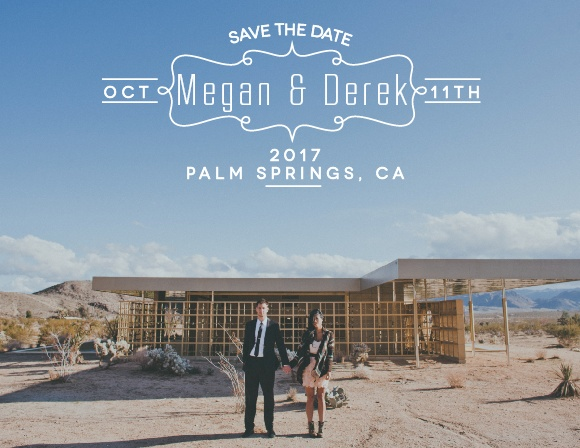 Blue Skies Save-the-Date Cards