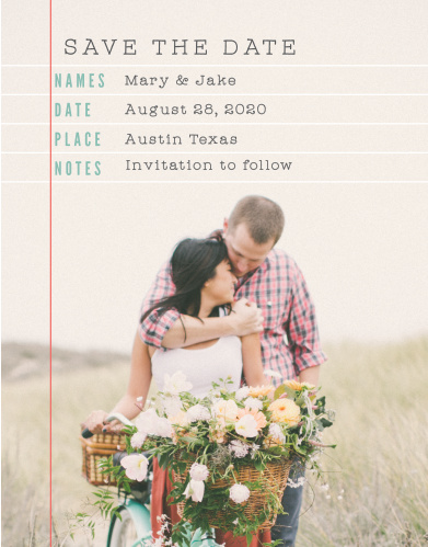 The Make a List Save-the-Date Cards are a simple yet tasteful way to share your important information with your friends and family.