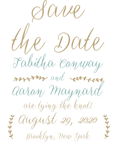 The Back to Nature save-the-date magnets is part of the Love vs Design collection by Basic Invite.