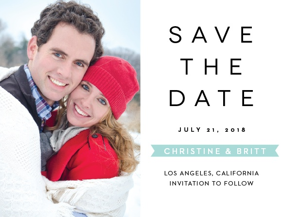 Use our The Minimalist Save-the-Date Magnets to ensure that your guests mark their calendars well in advance of your special day.