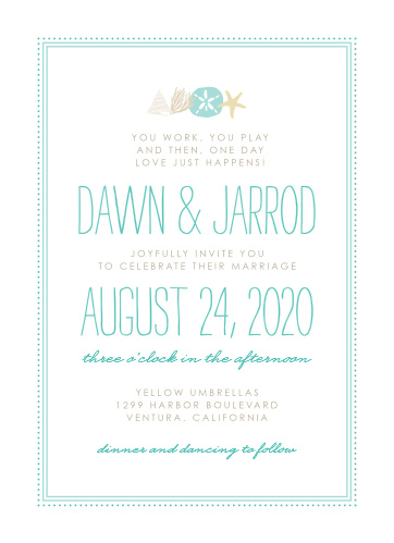 Relax amidst your wedding planning to personalize these sublime By the Sea Wedding Invitations in a breeze!