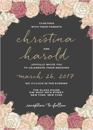 Elegant Blooms Wedding Invitations