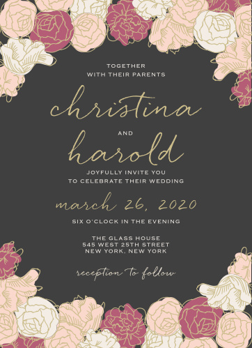 Wedding invitations match your color style free elegant blooms wedding invitations filmwisefo