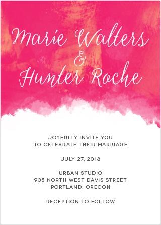 Splashy Watercolor Wedding Invitations