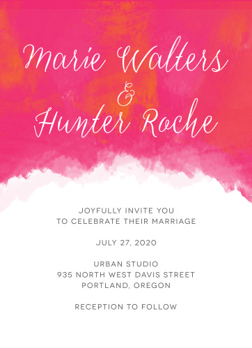 Your guests will adore the Splashy Watercolor Wedding Invitations once they receive them.