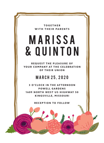 Our floral-driven Bold Blooms Wedding Invitations are exactly what you need to fill the seats on your wedding day.