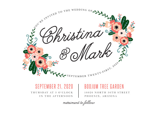 Fall in love with the Botanical Love Wedding Invitations.