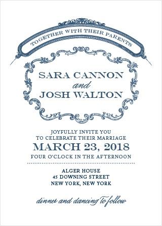 Victorian Luxe Wedding Invitations