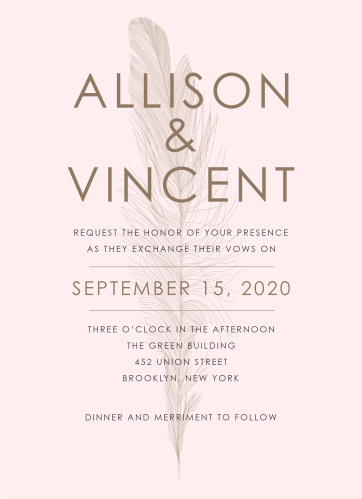 Your guests will adore the Light As A Feather Wedding Invitations once they receive them.