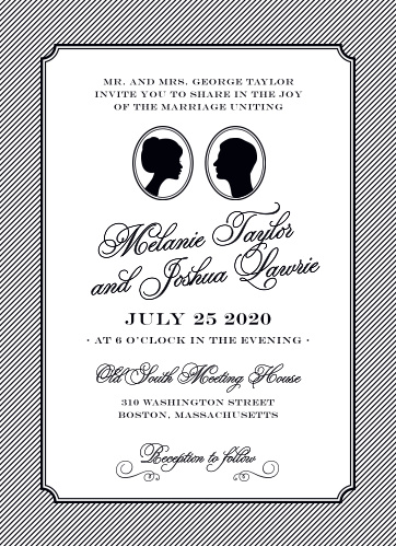 Your guests will adore the Stately Silhouette Wedding Invitations once they receive them.