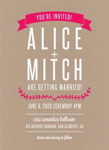 Our Simply Krafty Wedding Invitations are the definition of a simple, rustic invitation.