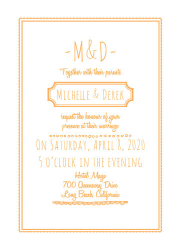 The Keep it Simple Wedding Invitations is part of the Love vs Design collection by Basic Invite.