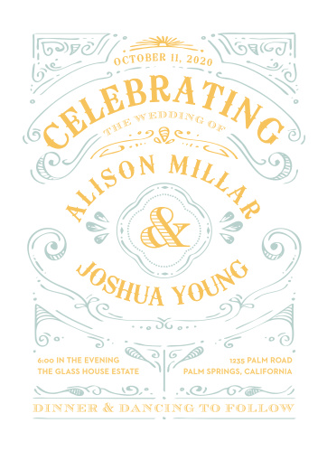 Your wedding will be one of the single happiest moments of your life; our Cheerful Celebrations Wedding Invitations are perfect for sharing that sentiment with your loved ones.