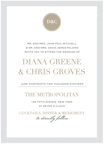 Our Simply Modern Wedding Invitations are a part of the Love Vs. Design collection by Basic Invite.