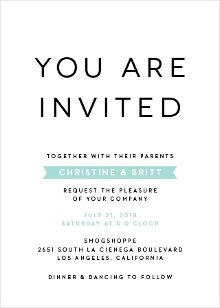 The Minimalist Wedding Invitations are the perfect choice for your modern, no-frills wedding.