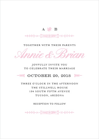 Your guests will adore the Subtle Elegance Wedding Invitations once they receive them.