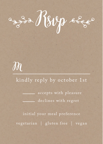 The Rustic Country RSVP Cards is part of the Love vs Design collection by Basic Invite.