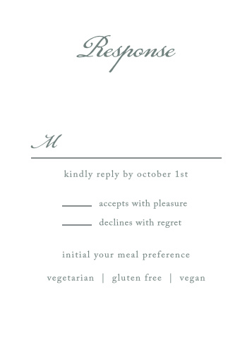 Plan for every single guest, as well as their individual needs, with our Rustic Elegance Response Cards.