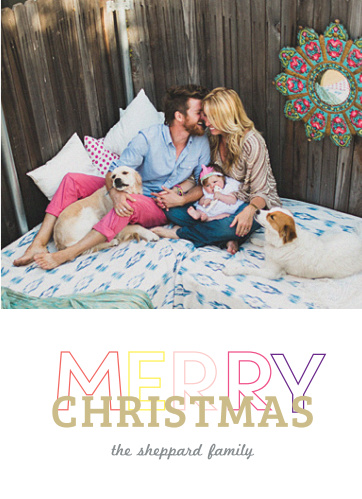 The Poppy Christmas card is a colorful way to send your season's greetings to your friends and family.