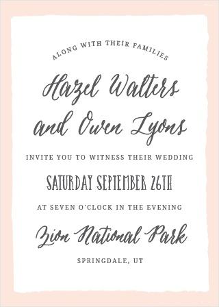 The Painted Border Wedding Invitation