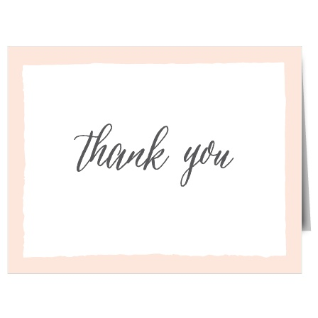 The Painted BorderThank You Card offers a simple, yet sophisticated template to express your gratitude to family and friends.  Choose from hundreds of font, text and color options
