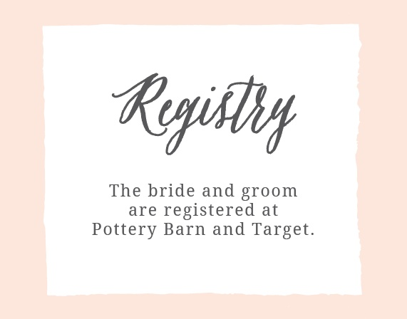 The Painted Border registry cards give you a rustic painted border with plenty of space in the middle for your different registries.