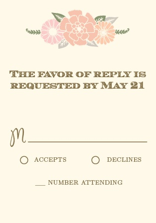 The Blooming Antlers RSVP Cards is part of the Love vs Design collection by Basic Invite.