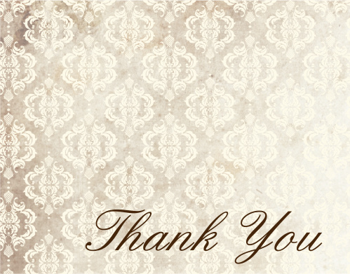 The Vintage Honors graduation thank you cards are a classic way to say thank you to your close friends and family for all of their support.
