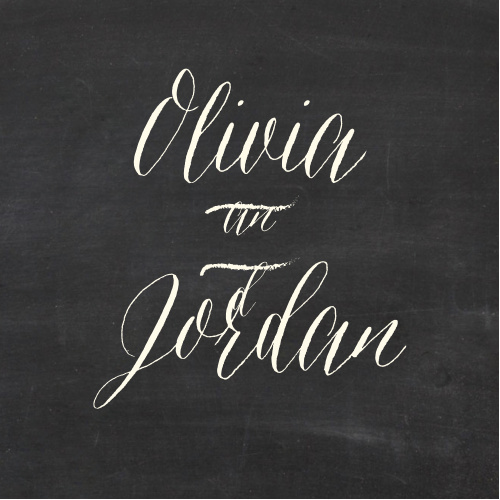 The Chalkboard Lettering logo square adds the final touch to an already beautiful invitation suite.