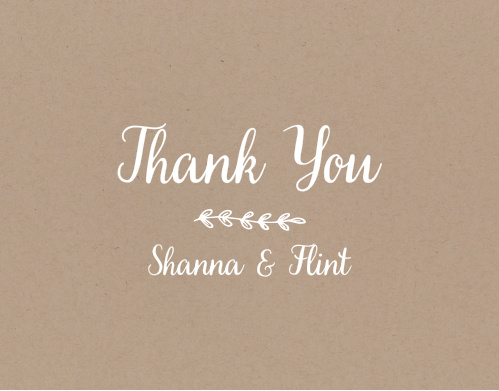 Leave your guests feeling appreciated after your big day with the Rustic Country thank you cards!