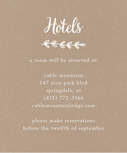 The Rustic Country Accommodation cards blend in seamlessly with the matching Invitation Suite from the Love vs. Design collection by Basic Invite.