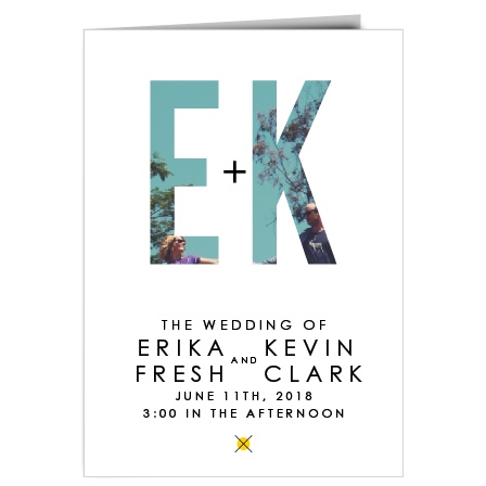 Layout your day with this conservative yet modern wedding program from the Your Initials invitation suite!