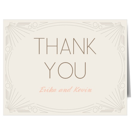 Express the most profound gratitude with the decorative Framed Art Deco Thank You card. Customize all the colors and fonts perfectly to your liking!