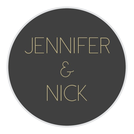 The Framed Art Deco logo square is the finishing touch to an already beautiful invitation suite.