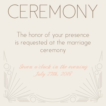 Make sure all the really important people show up to your wedding ceremony with the Framed Art Deco Ceremony Cards! Customize them to fit your wedding theme or leave them with that classy, 'Great Gatsby' feel.