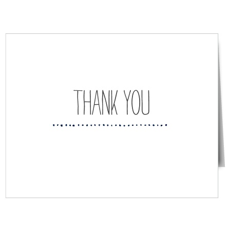 The Studly Senior Graduation Thank You Card is a masculine card that's simple yet classy. You can change the background, text, and font to make it perfectly personality.