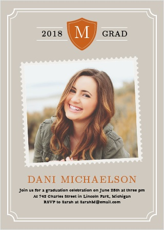 Proudly display your monogram with this fun yet refined design for your graduation.