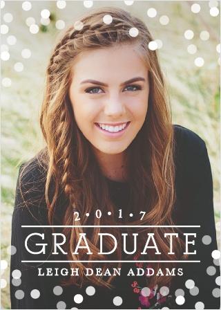 Confetti Celebration Graduation Announcements