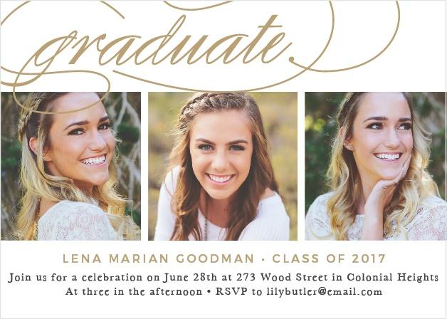Graceful Grad Graduation Announcement