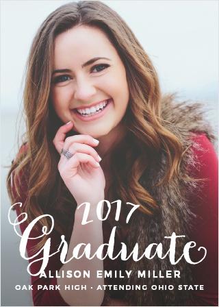 Hand Lettered Graduation Announcement