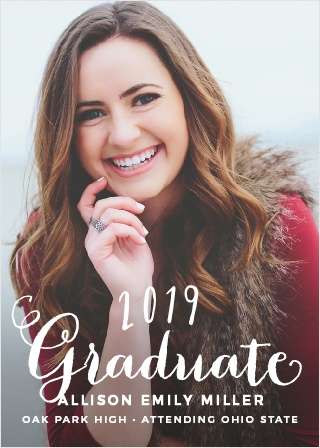 2018 graduation announcements invitations for high school and college hand lettered graduation announcement filmwisefo