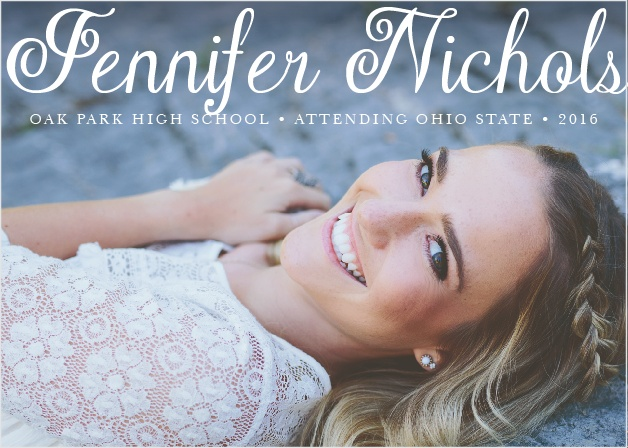 The simplicity of this graduation announcement is what makes it so elegant.