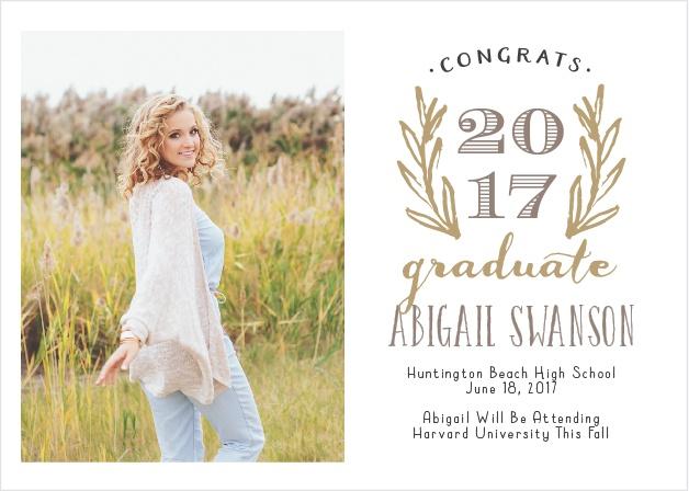 Sketched Graduation Announcement