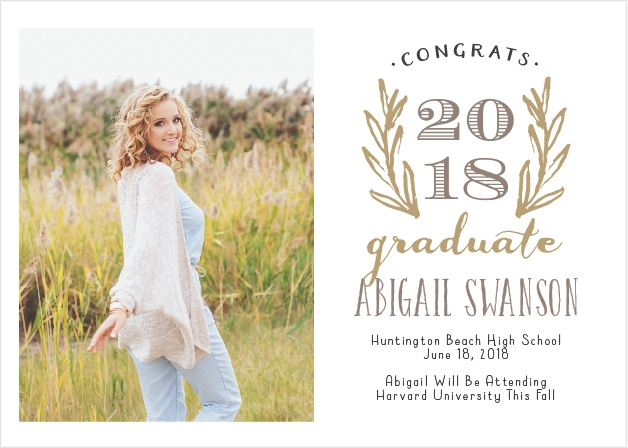 Traditional meeds hipster with this easy to customize, beautiful Sketched Graduation Announcement.