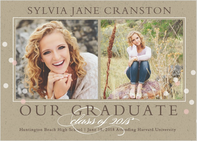 The Cork and Confetti Graduation Announcement is a classy yet fun way to announce your big plans and to share your achievement of graduating.